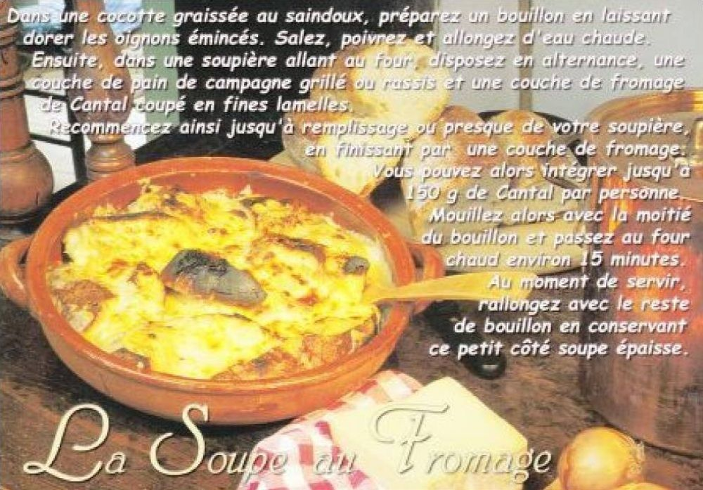 soupe au fromage cantal. Black Bedroom Furniture Sets. Home Design Ideas
